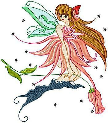 Fine Fairies 10 Machine Embroidery Designs Cd   ###   3 Sizes