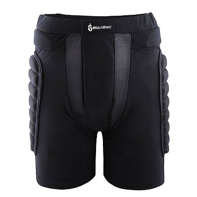 3D Padded Short Protective Hip Butt Pad Ski Skate Snowboard Compression Shorts
