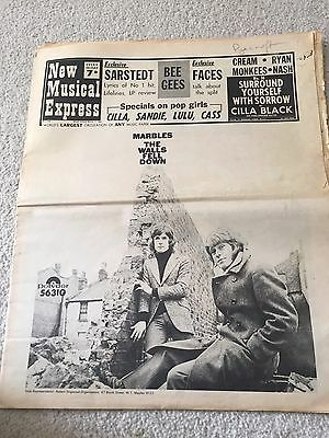 Nme March 1st 1969, Bee Gees, Marbles, Cream, Soul Brothers, Cilla, Lulu, Sandie