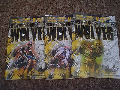 Wolves   Speedway Programmes   2017 Mint/blank    (3)