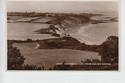 Elevated view of Bembridge, Isle of Wight from Culver Downs