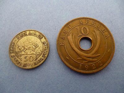 EAST AFRICA 50 & 10 CENT COIN from the 1920's