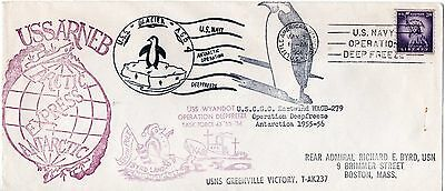 USA 1956 Operation Deepfreeze Antarctic cover posted back to USA