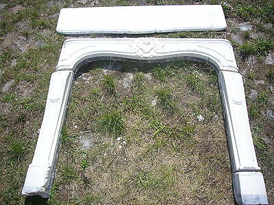 kaminmaske Oven Fireplace kamineinfassung Chimney Face Heating Marble Louis XV