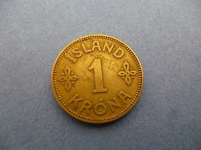 Iceland 1925 One Krona Coin