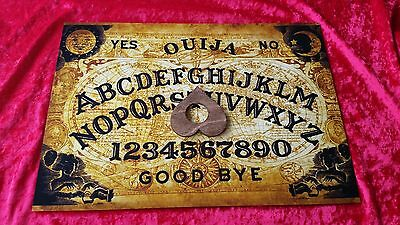Wooden Classic Ouija Board Twin Globe & Planchette SUPER LARGE A3 Instructions