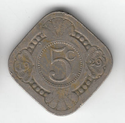 Holland 5 Cents 1929 Square       197D                     By Coinmountain