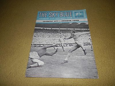 Coventry v Swindon Town - League Cup 4th round in 1968 & Swindon won the Cup