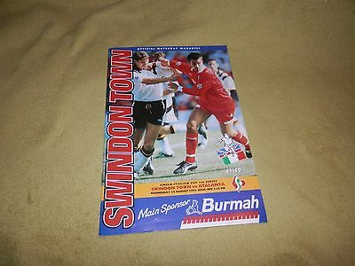 Swindon Town v Atalanta - Anglo-Italian Cup 1st series in 1994 at County Ground