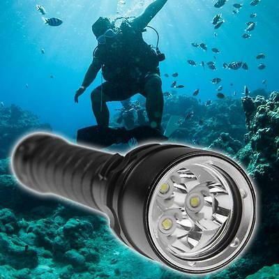 Underwater 80M 6000LM 3X XM-L2 CREE LED Scuba Diving Flashlight Lamp Torch BF