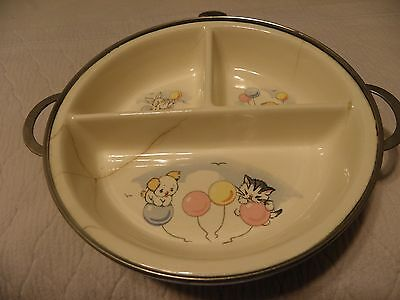 Vintage Excello childs plate food warmer