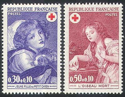 France 1971 Red Cross/Child/Dog/Medical 2v set (n20403)