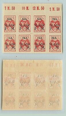 Central Lithuania, 1921, SC B1, MNH, imperf, block of 8. rt6514