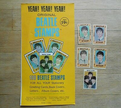 Set of 5 x Beatles Stamps by Hallmark 1964 - excellent condition
