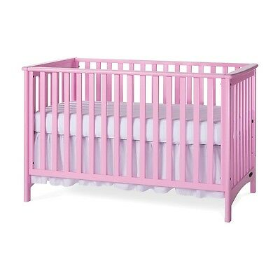 Child Craft 3-in-1 Convertible Crib London Colours, Princess Pink