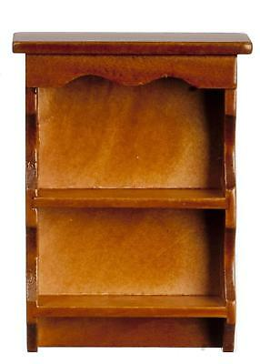 Dolls House Walnut Sweetheart Country Wall Shelf Miniature 1:12 Shelf Unit