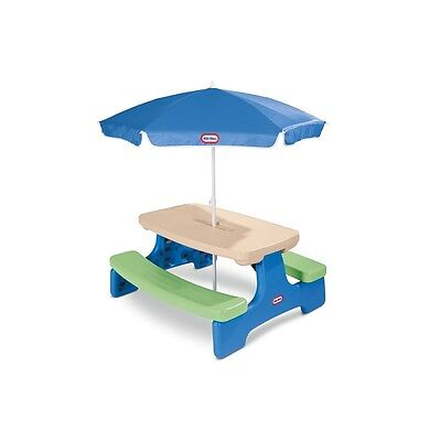 Little Tikes - Easy Store - Large Picnic Table with Umbrella