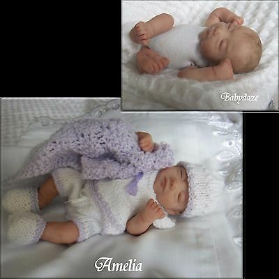 "Ooak Unique  Artist Hand Sculpted 8"" Jointed  Baby Girl.amelia"