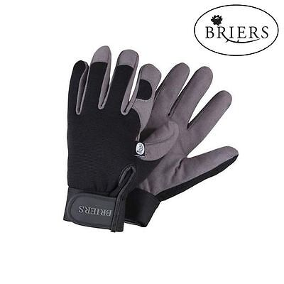 Briers Professional Black and Grey Synthetic Leather Garden Gardening Gloves