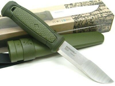 MORA OF SWEDEN MORAKNIV Green KANSBOL Straight Fixed Knife + Basic Sheath! 01751