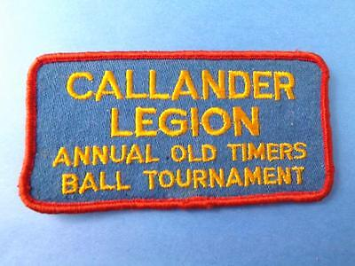Callander Legion Annual Old Timers Tournament Canada Patch Vintage Collector