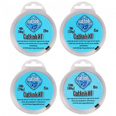 Catfish Pro NEW Catfish Fishing Catlink XT Green Hooklink *All Breaking Strains*