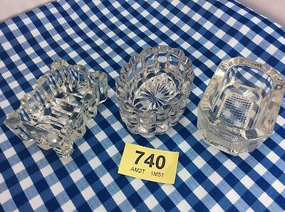 3 Small Vintage Glass Dishes