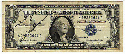 REPRINT RP Signed Autographed Andy Warhol on a REAL US 1957 $1 Dollar Bill