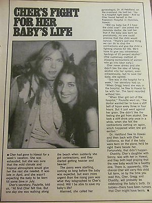 Cher, Full Page Vintage Clipping, Gregg Allman
