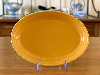 """Fiesta Marigold Small 9 1/2"""" Oval Platter  Excellent Unused Condition"""