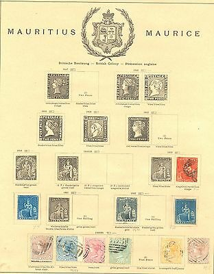 English Colony Mauritius 1859/1926  120  St.   Most */0   Most Vf