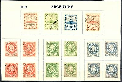 Argentina  Fournier Forgery Affixed To Page  16 St. No Gum   Marked  Faux