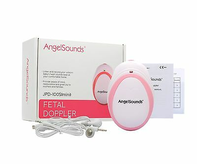 Angelsounds Baby Fetal Doppler Angel Sound Heart Monitor Detector inc 250ml GEL