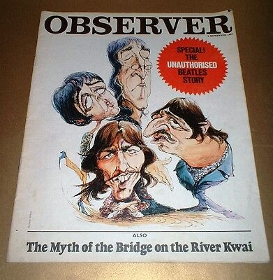 1968 THE BEATLES THE OBSERVER SPECIAL - Original collectable & rare
