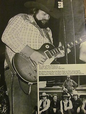 Charlie Daniels Band, Full Page Pinup Clipping
