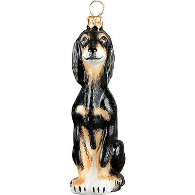 Saluki Polish Glass Christmas Ornament Dog Tree Decoration Made in Poland