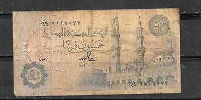 EGYPT #58a 1987 VG CIRCULATED 50 PIASTRES  BANKNOTE NOTE BILL PAPER MONEY