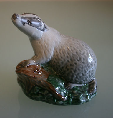 """Badger Small Decanter by Beswick Modelled by Lyttleton 1981 3"""" (7 1/2cm) Tall"""