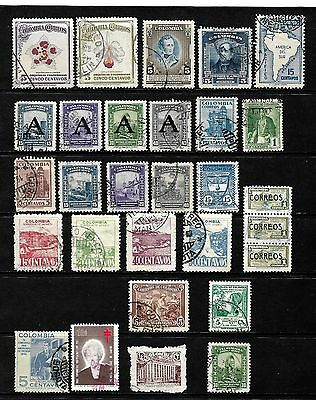 Colombia...a Good Lot Of Stamps................80836