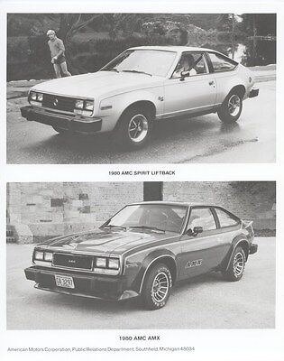 1980 AMC Spirit Liftback & AMX Factory Photo ub4936