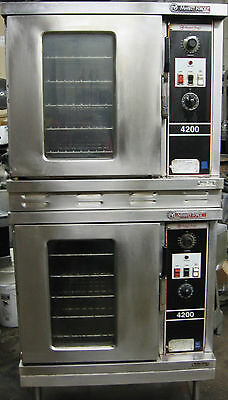 Market Forge Double Stack Convection Oven Electric 3 phase Glass doors