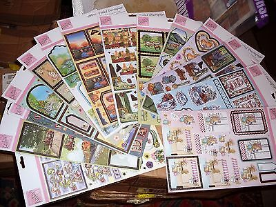 14 DOCRAFT sheets foiled decoupage 3D - ALL DIFFERENT - ANITA'S