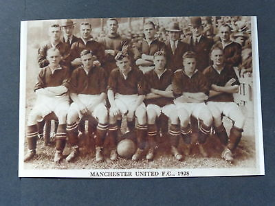 "MANCHESTER UNITED  TEAM   1928   6""x4""  REPRINT"