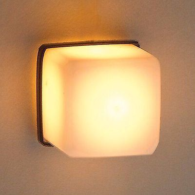 1/12Th Scale Dolls House Modern Cube Wall Lamp