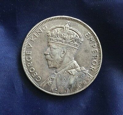 Mauritius George V Silver 1 Rupee coin from 1934 (1)