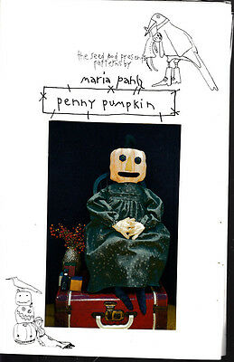 Penny Pumpkin Primitive Doll Craft Sewing Pattern
