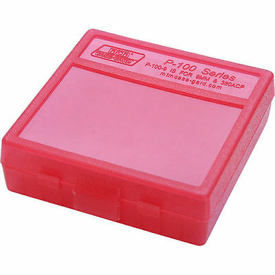 MTM Case Gard™ New MTM Plastic Ammo Box 100 Round 9MM P100-9-29 Clear Red