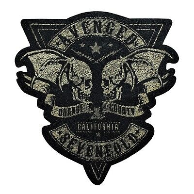 "Avenged Sevenfold Die-Cut ""Orange County California"" Sew-On Patch Metal Applique"