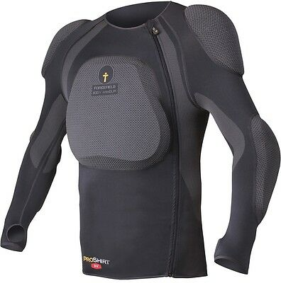 Forcefield Pro Shirt X-V Body Armour With Back Protector, L, Grey