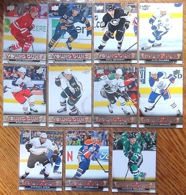 Lot of (11) 2013-14 Upper Deck Series 1 & 2 Young Guns Rookie Cards